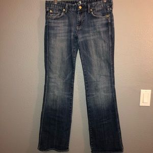 WOMENS 7 FOR ALL MANKIND JEANS SIZE 30 A Pocket